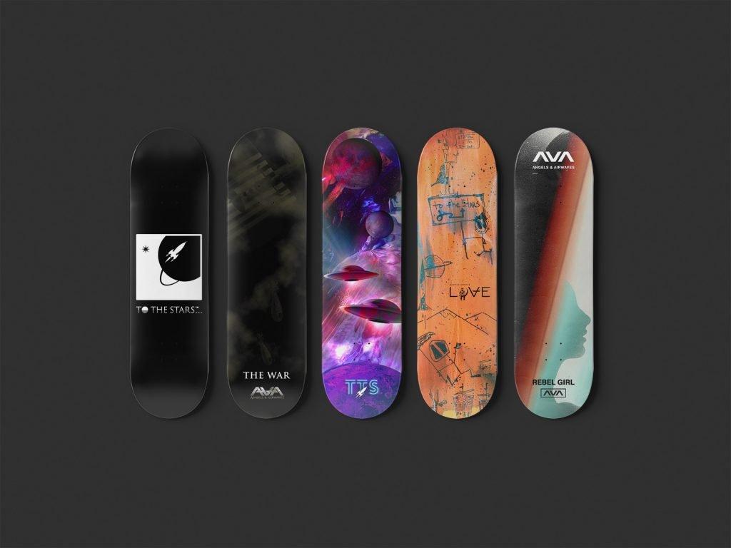Angels and airwaves skateboards.