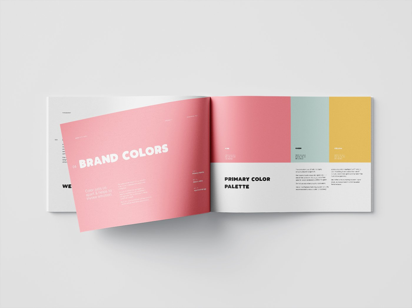 Sneak preview of a branded style guide.